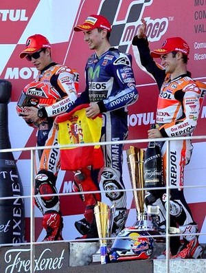 Podio Valencia MotoGP