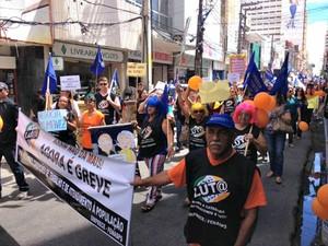 Servidores do INSS estão em greve desde o dia 7 de julho no Ceará (Foto: Sinprece/ Divulgação)