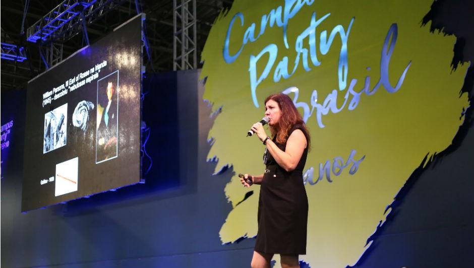 Duília de Mello foi uma das palestrantes do terceiro dia da Campus Party (Foto: Flicker Campus Party 2017)