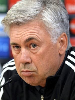 Ancelotti, coletiva Real Madrid (Foto: Agência AFP )