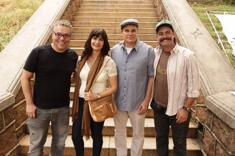 O diretor Paulo Nascimento com os atores Soledad Villamil, Edson Celulari e Leonardo Machado  (Foto: Divulgação)