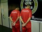 Presa dupla suspeita de integrar quadrilha de roubos em Juiz de Fora