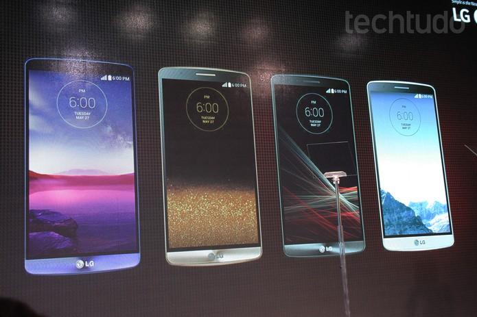 Cartela de cores do LG G3 (Foto: Isadora Díaz/TechTudo)