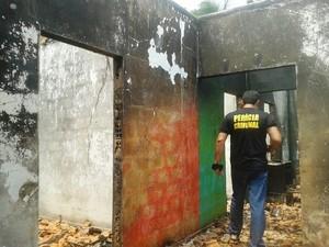 Homem teria incendiado a casa da ex-companheira por não aceitar fim do relacionamento. Rurópolis. (Foto: Divulgação/ Polícia Civil)