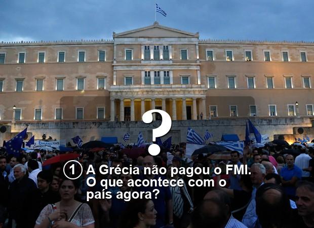 a greciua nao pagou o fmi (Foto: G1)