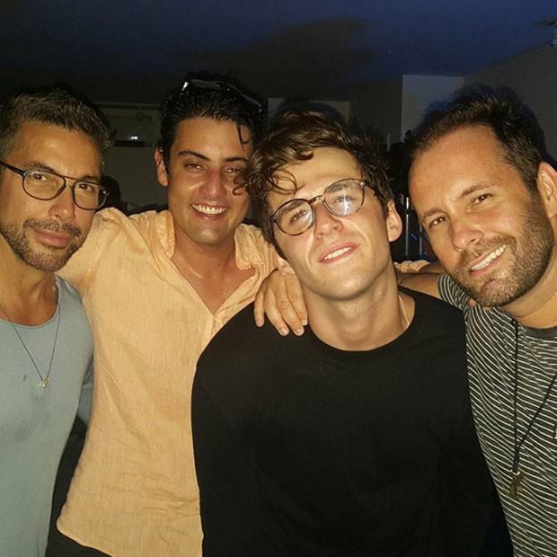 Fernando Torquatto, Bruno de Luca, Gil Coelho e Leo Marçal em festa no Rio (Foto: Instagram/ Reprodução)