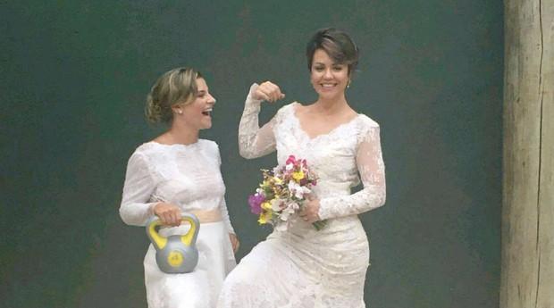 Carina Rosin e Flávia Picolo, da Noiva em Forma (Foto: Divulgação/William Rezende Paiva)