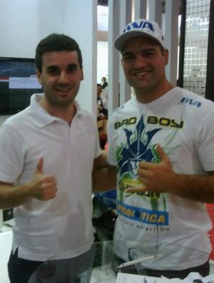 Eduardo Alonso e Maurício Shogun (Foto: Reprodução Twitter)