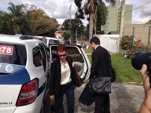 Marice de Lima voltou do Panamá para se entregar à Polícia Federal (Foto: Fernando Castro/ G1)