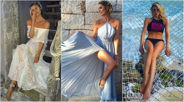 Julia Faria em Cancún e em Tulum, de biquíni (Foto: Reprodução/Instagram)