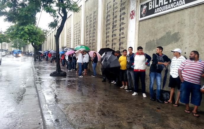 fila ingressos vasco e santos (Foto: Gustavo Rotstein)