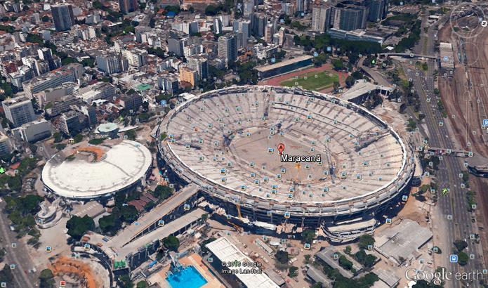 Mapa do Rio de Janeiro mostra estruturas em 3D (Foto: Reprodução/Google Earth)