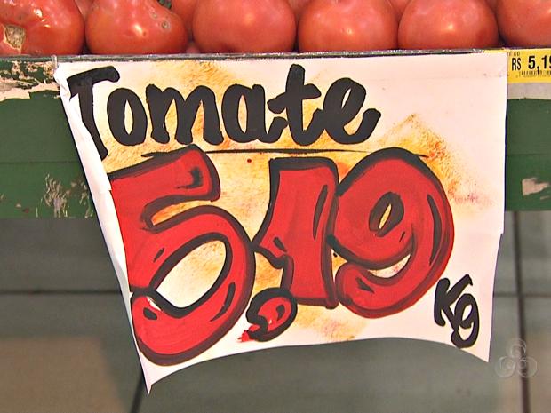 ee0347c0f Consumidores sentiram aumento no preço do tomate (Foto  Reprodução TV Acre)