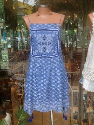 Vestido Estampa Jacquard Shiborita