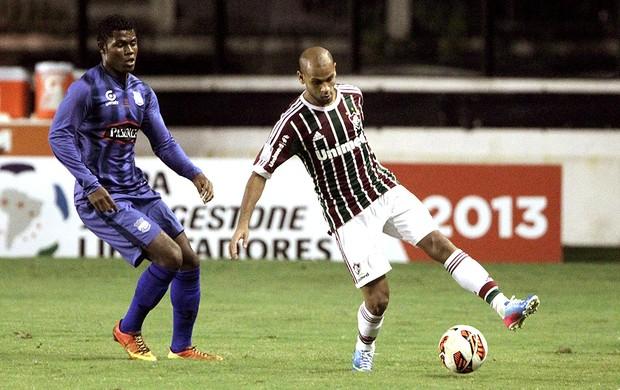 Carlinhos jogo Fluminense Emelec (Foto: Marcelo Theobald / Ag. O Globo)