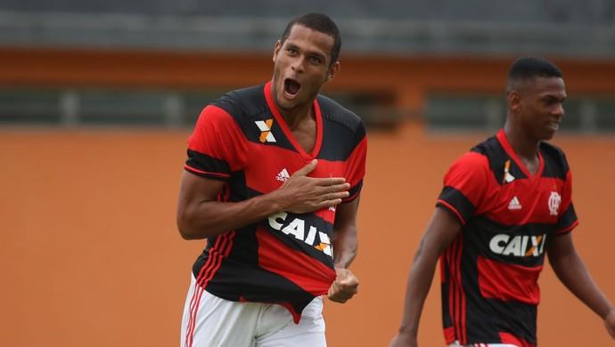 Daniel dos Anjos comemora gol contra o Botafogo na final do sub-20 (Foto: Gilvan de Souza/Flamengo)