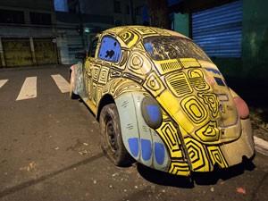 carro arte festival baixocentro (Foto: Ardilhes Moreira/G1)