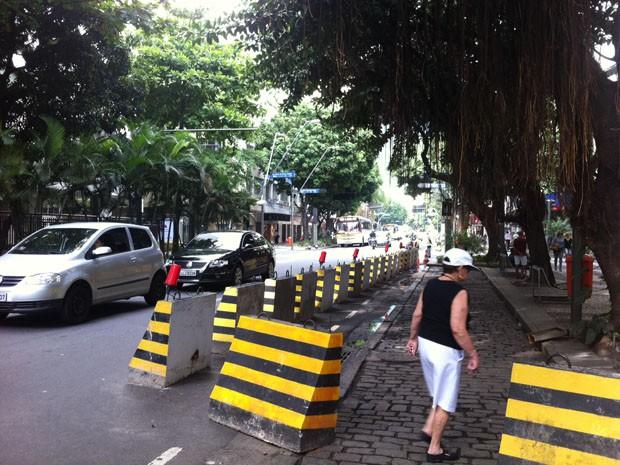 Trânsito flui bem nesta quarta após interdição para obras da linha 4 do metrô. (Foto: Janaína Carvalho / G1)
