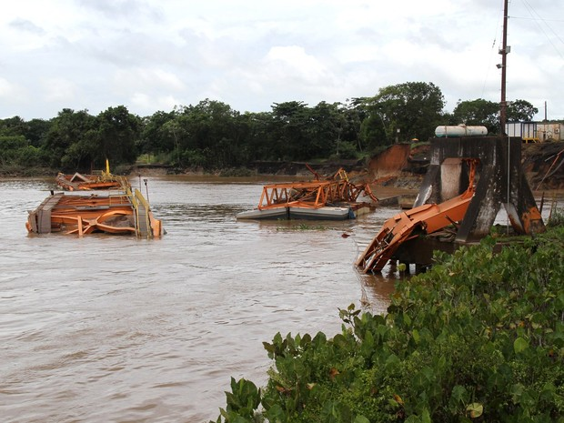 Seis trabalhadores foram vítimas do acidente; quatro morreram e dois continuam desaparecidos (Foto: Jorge Júnior/Agência Amapá)