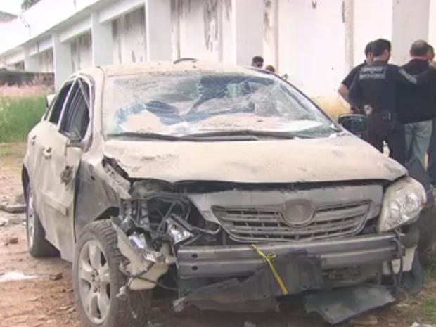 Muro é explodido no Complexo do Curado, mas presos não escapam (Foto: Reprodução/ TV Globo)