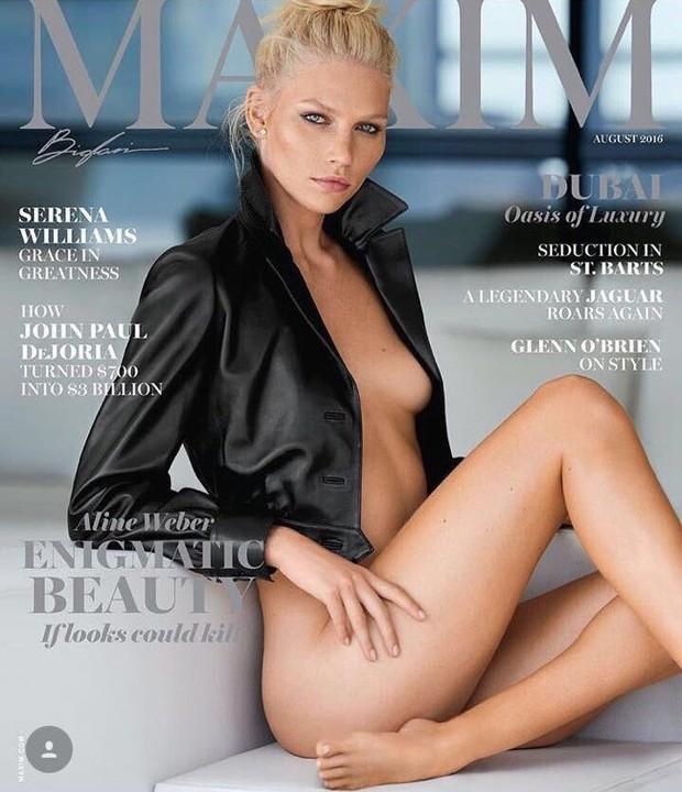 Alin Weber na capa da revista Maxim (Foto: Divulgação)
