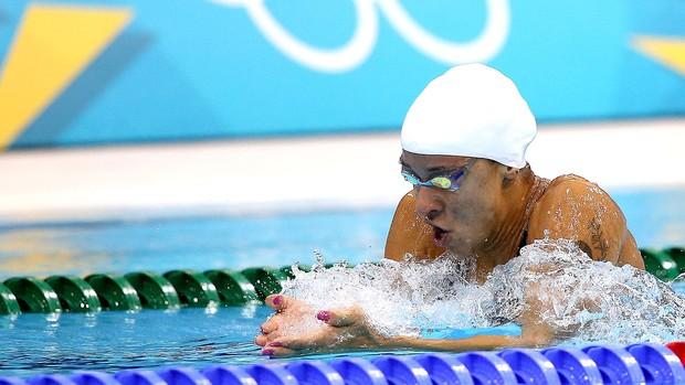 Joanna Maranhão na prova de natação Londres (Foto: Satiro Sodré / Agif)