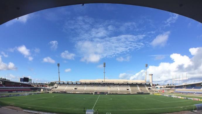 Estádio Rei Pelé CRB Vasco (Foto: Cahê Mota)