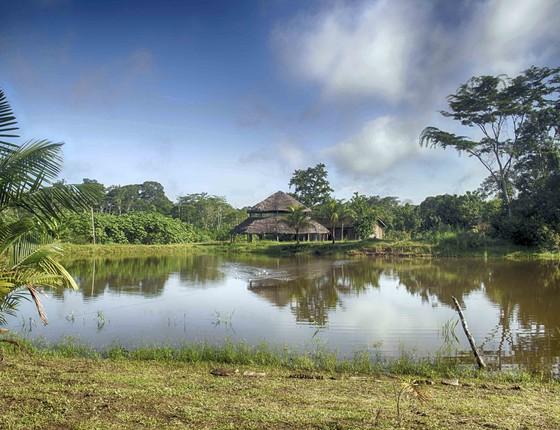 A Aldeia de Mutum, na Terra Indígena do Rio Gregório, no Acre (Foto:  Roberto Herrera)