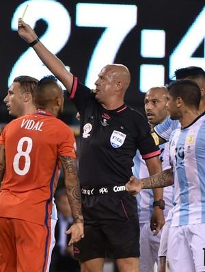 Heber Roberto Lopes Argentina x Chile (Foto: AFP)