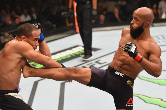 Demetrious Johnson e John Dodson UFC 191 (Foto: Getty Images)