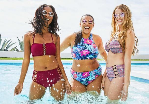 Quanta beleza em um só clique! Target escalou mulheres normais para campanha de swimwear da marca (Foto: Divulgação)