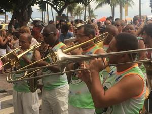 Banda do Bairro Peixoto (Foto: Daniel Silveira/G1)