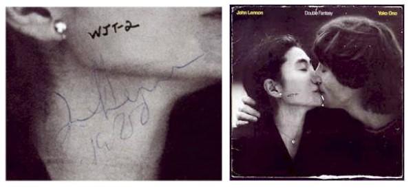 O disco de David Chapman com a assinatura de John Lennon (Foto: Divulgação)