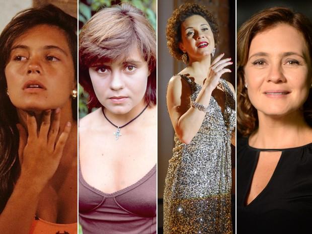 Diferentes momentos da carreira de Adriana Esteves (Foto: CEDOC / Renato Rocha Miranda / Zé Paulo Cardeal / TV Globo)