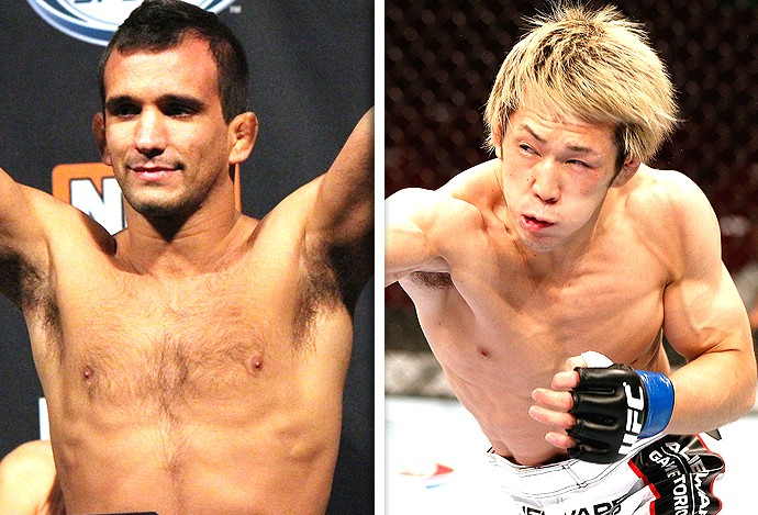 Montagem UFC Rani Yahya x Michinori Tanaka (Foto: Editoria de Arte)