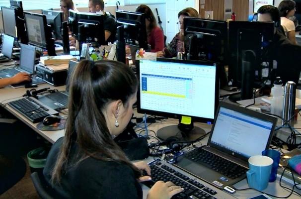 computador, visão tela (Foto: Reprodução/RBS TV)