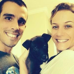 Bruno Fratus e Michelle (Foto: Reprodução/Facebook)