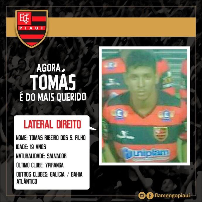 Tomas, Flamengo-PI (Foto: Divulgação)