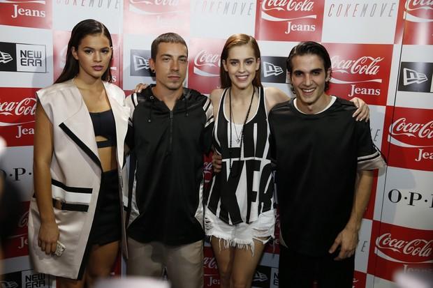 Bruna Marquezine, Di Ferrero, Sophia Abrahão e Fiuk (Foto: Felipe Panfili / AgNews)