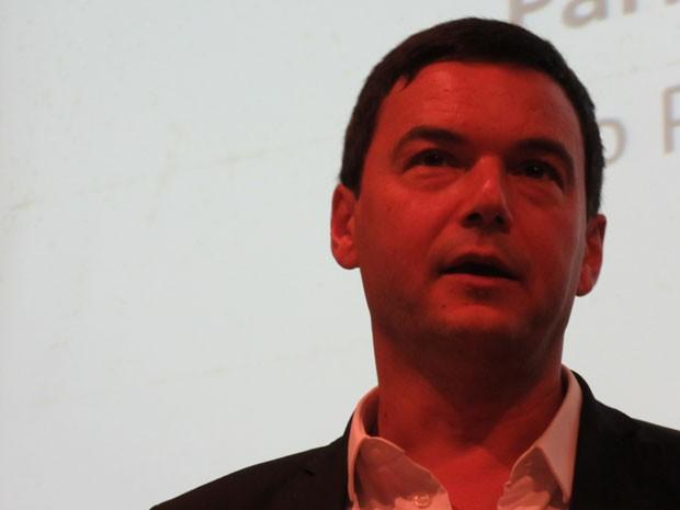 Economista francês Thomas Piketty participou de debate sobre o seu livro na FEA-USP (Foto: Dalan Alvarenga/G1)