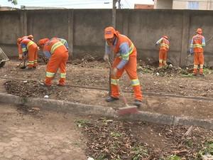 A limpeza vai acontecer em 90 escolas do município.  (Foto: Reprodução/ TV Gazeta)