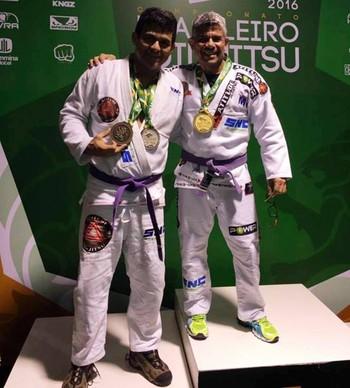 Allan Ascendino e Duda Castro Brasileiro de Jiu-jítsu Acre (Foto: Allan Ascendino/Arquivo Pessoal)