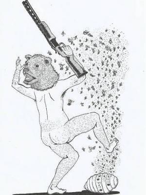 Ilustração de Fábio Vermelho compõe o miolo do livro (Foto: Divulgação)