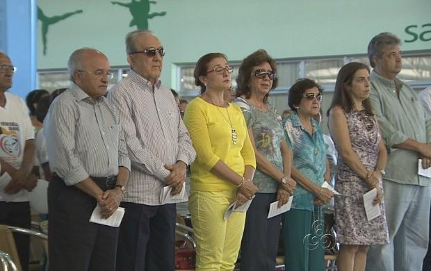 Família Daou marcou presença na solenidade (Foto: Amazonas TV)