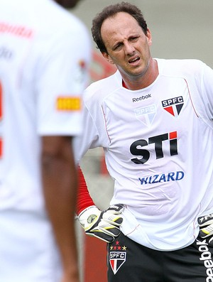 Rogerio Ceni no treino do São Paulo (Foto: Luiz Pires / VIPCOMM)