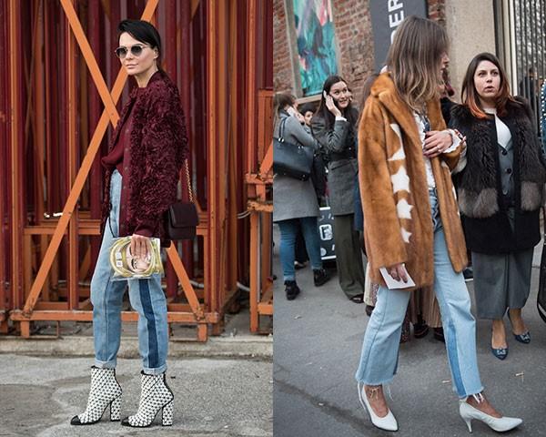 As calças com duas cores foram uma constante (Foto: Joanna Totolici)
