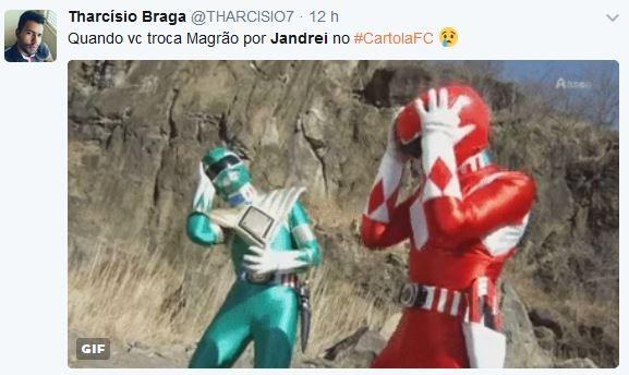 Meme Magrão Jandrei Rodada #5 (Foto: Reprodução)