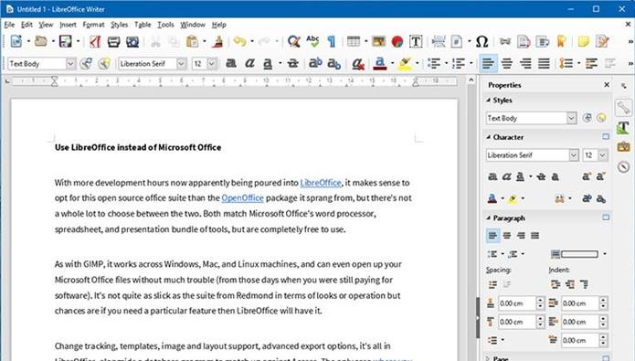 LibreOffice se destaca como alternativa ao popular Microsoft Office