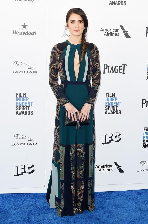 Nikki Reed em prêmio de cinema em Los Angeles, nos Estados Unidos (Foto: Jason Merritt/ Getty Images/ AFP)