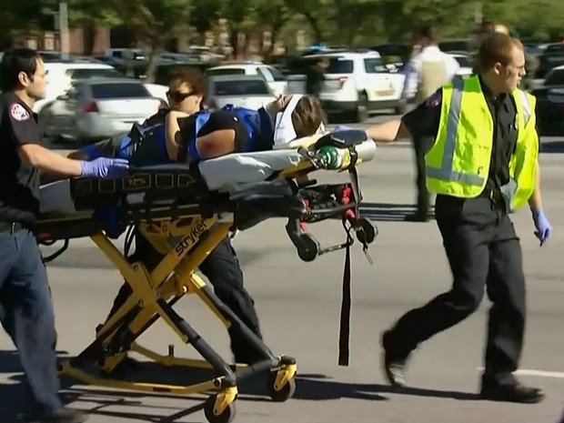Tiroteio na Califórnia (Foto: Reprodução/GloboNews)
